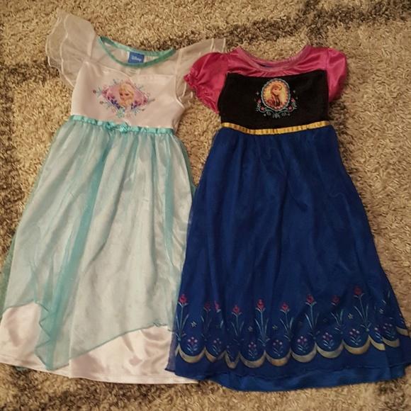 Disney Pajamas   Lot Of 2 Frozen Nightgowns 3t   Poshmark